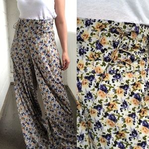 Urban Outfitters Pins & Needles Wide-leg Floral